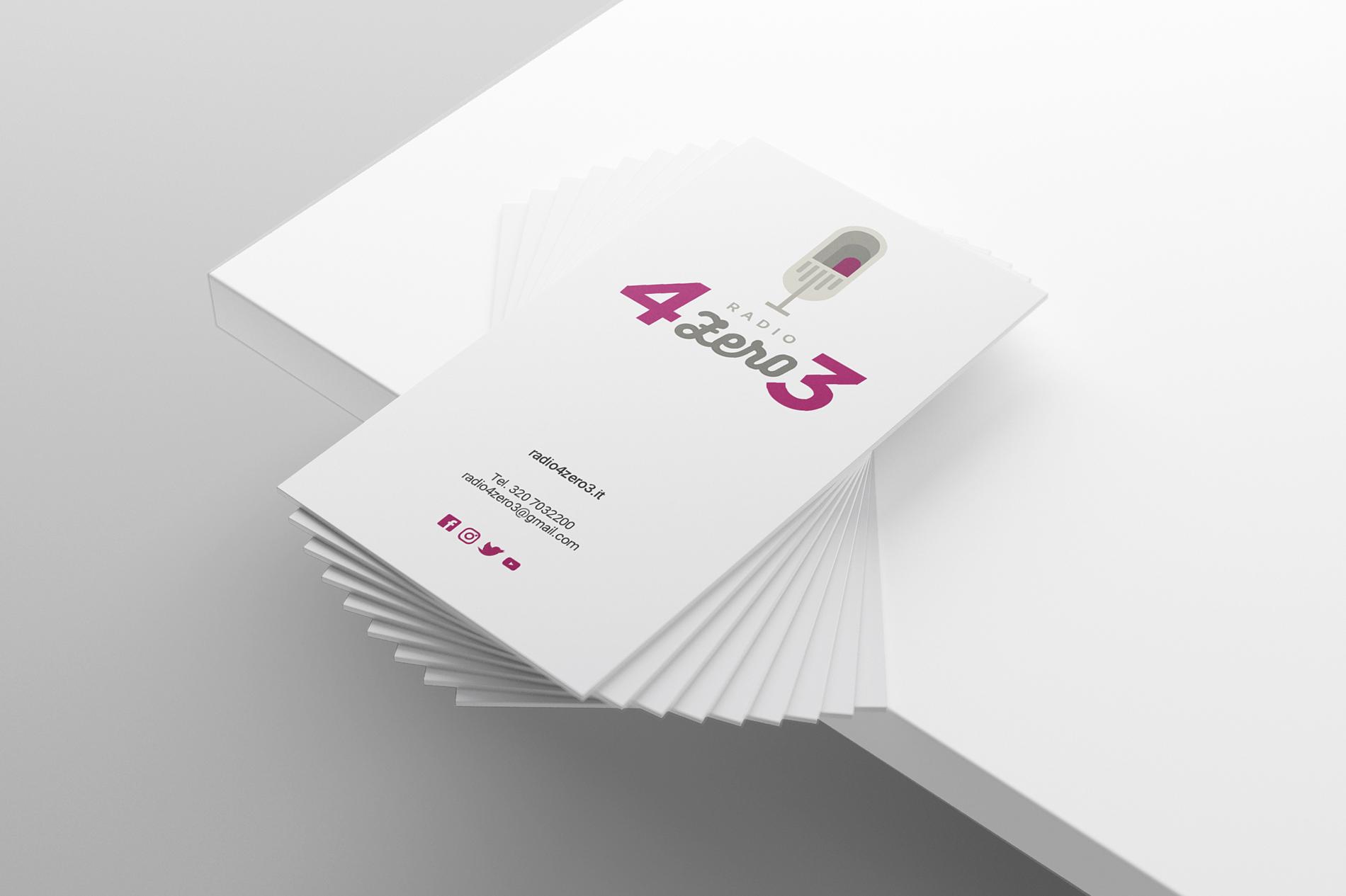 Design Biglietti 4ZERO3