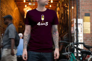 Tshirt Bordeaux 03 4ZERO3
